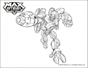 Coloring page max steel free to color for kids