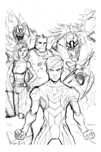 Coloring page max steel to print