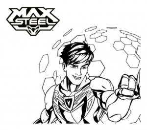 Coloring page max steel to color for children