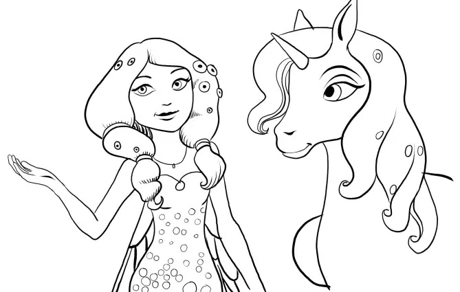 Free Mia And Me coloring page to download