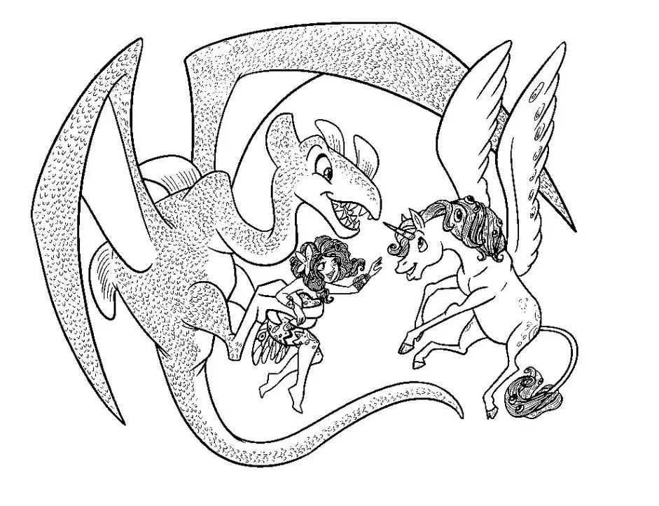 Simple Mia And Me coloring page to print and color for free