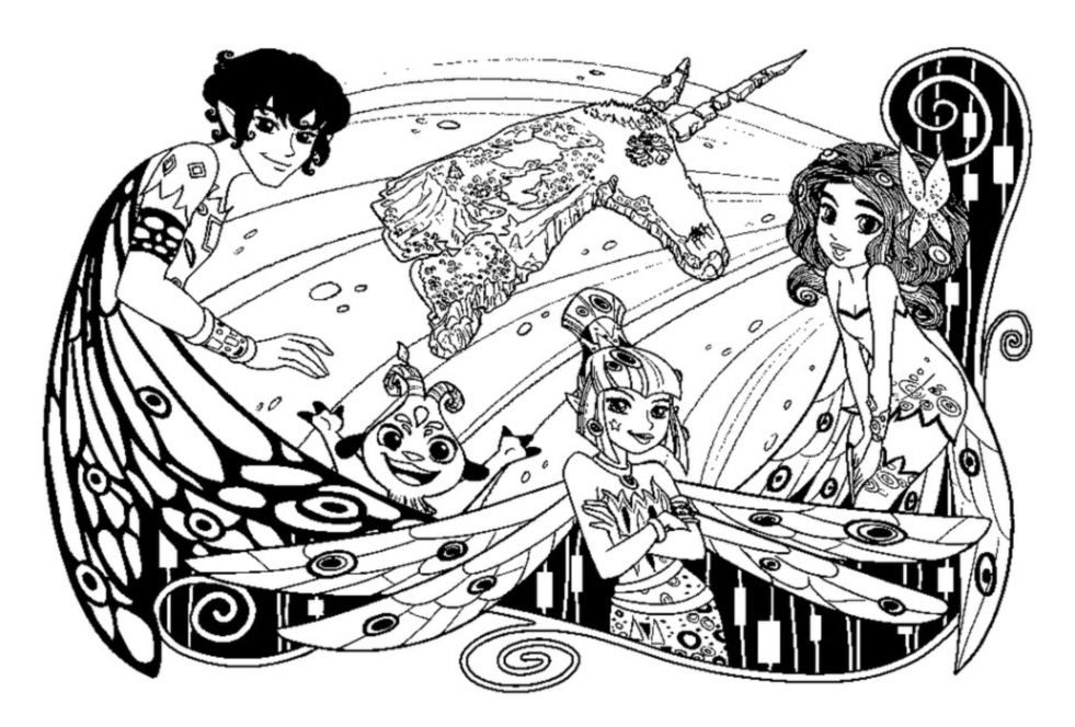 Beautiful Mia And Me coloring page