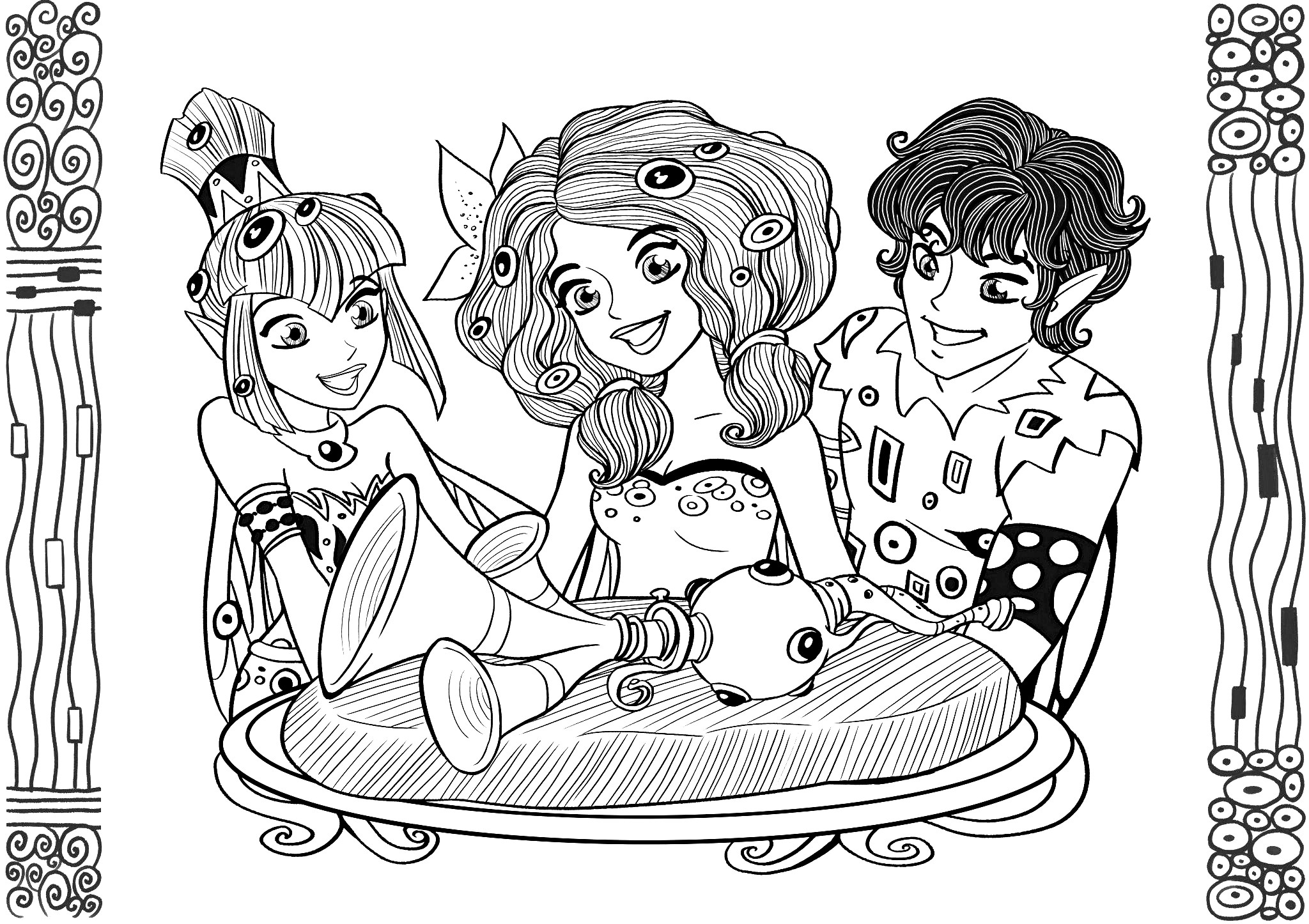 Free Mia And Me coloring page to download, for children