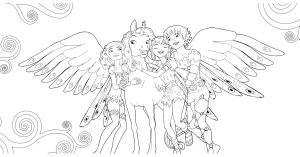 Coloring page mia and me free to color for children