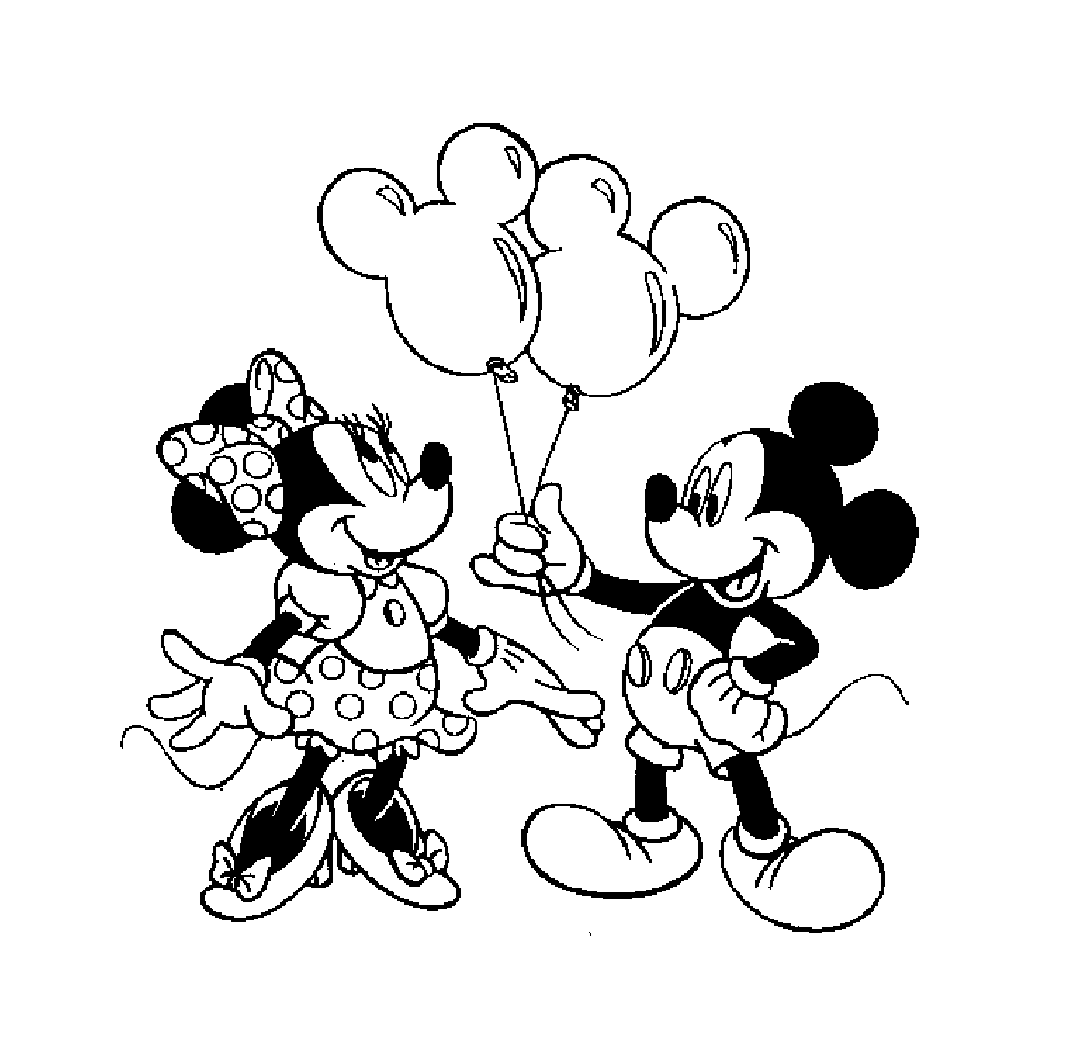 Funny free Mickey And His Friends coloring page to print and color