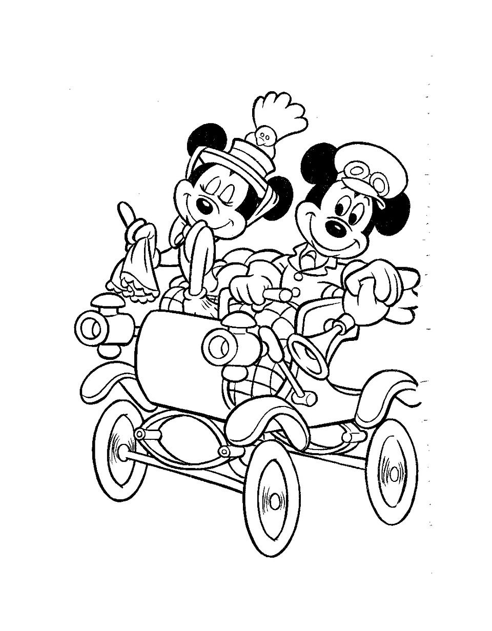 Funny Mickey And His Friends coloring page