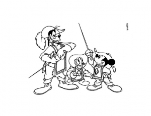 Coloring page mickey and his friends to print