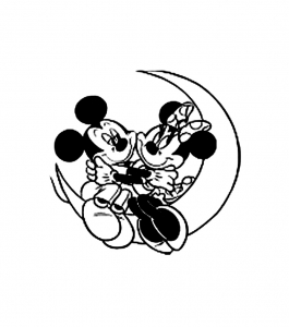 Coloring page mickey and his friends for children