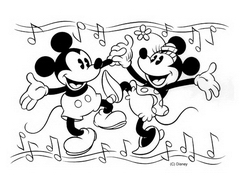 Coloring page mickey and his friends for kids