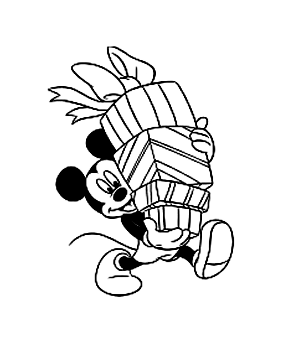 Free Mickey coloring page to print and color