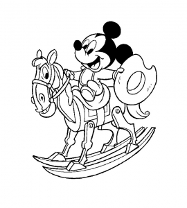 Coloring page mickey for kids