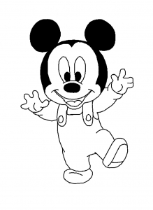 Coloring page mickey to print for free