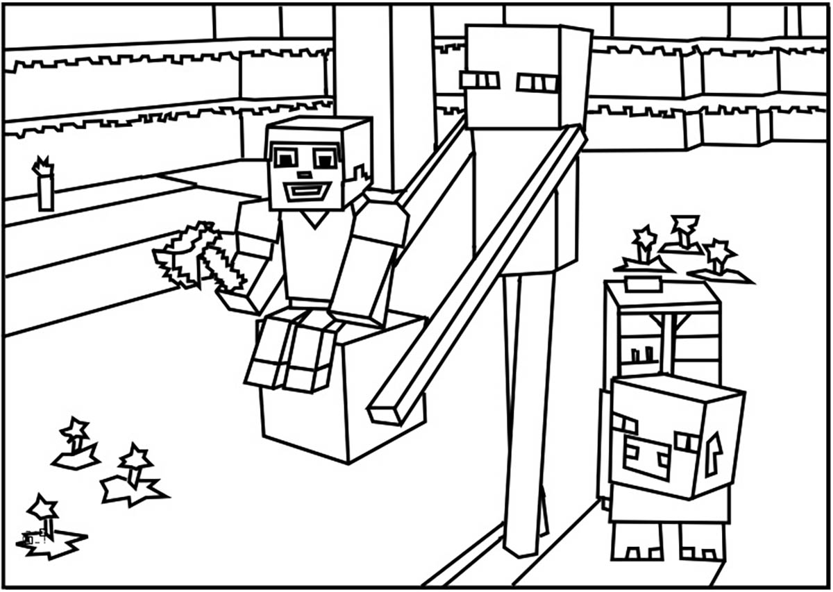 Minecraft for kids - Minecraft Kids Coloring Pages