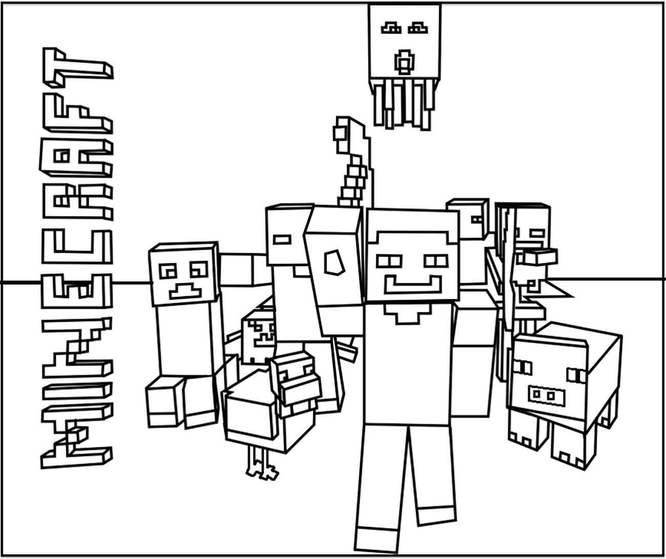 Minecraft free to color for kids - Minecraft - Coloring pages for kids