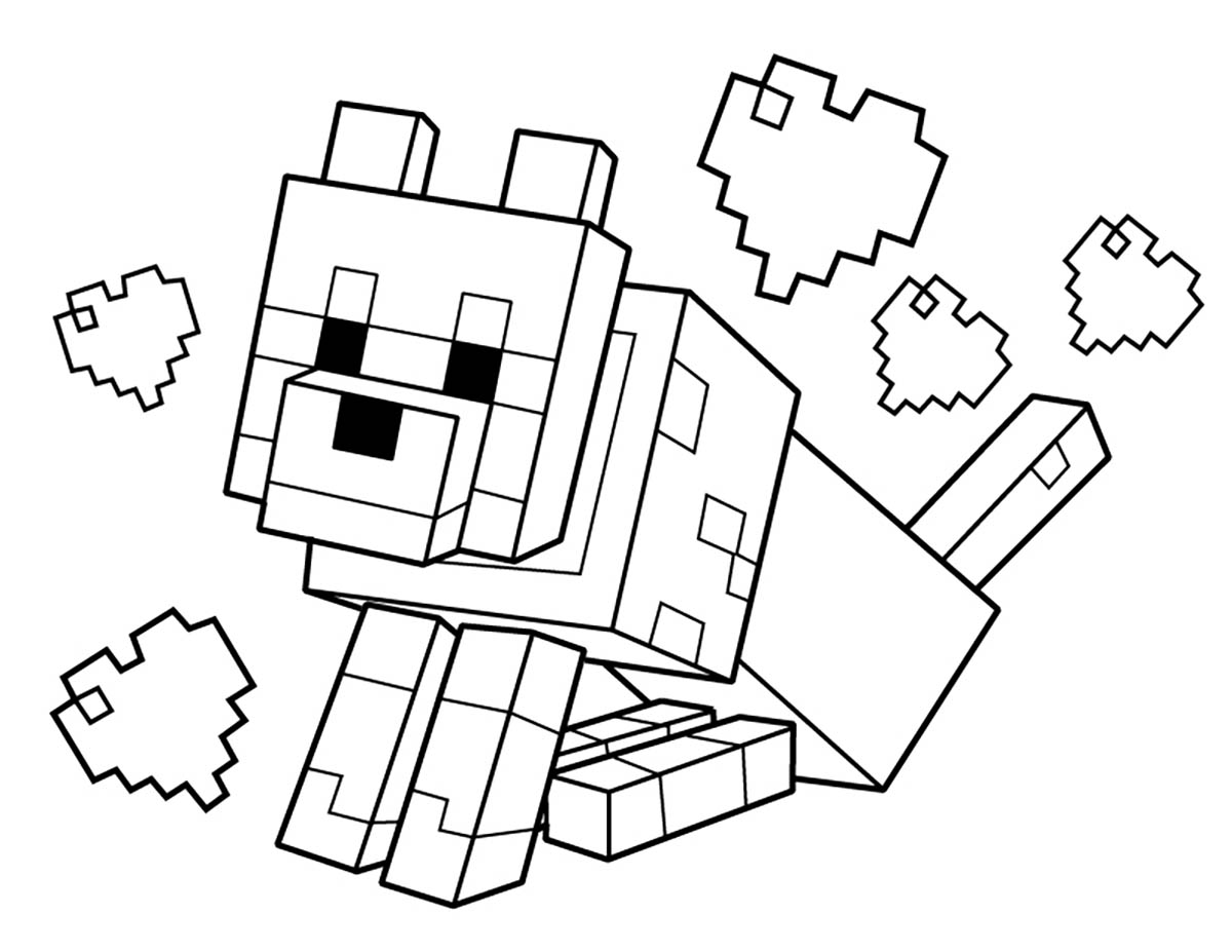 - Minecraft To Color For Children - Minecraft Kids Coloring Pages