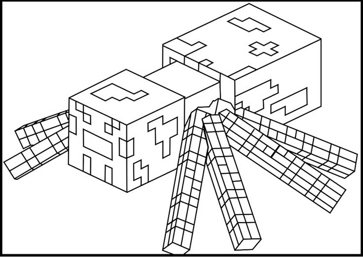 Free Minecraft Coloring Page To Print And Color