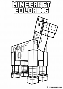 Coloring page minecraft to color for children