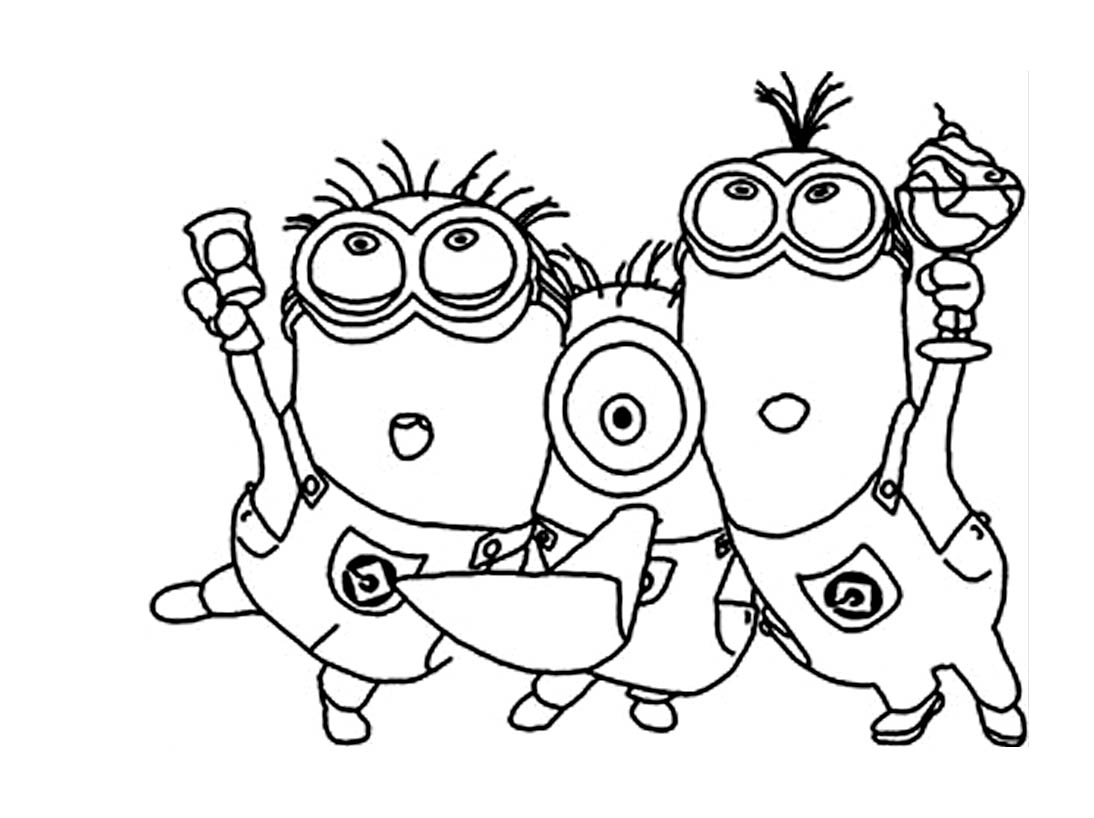 Minions To Print For Free Minions Kids Coloring Pages