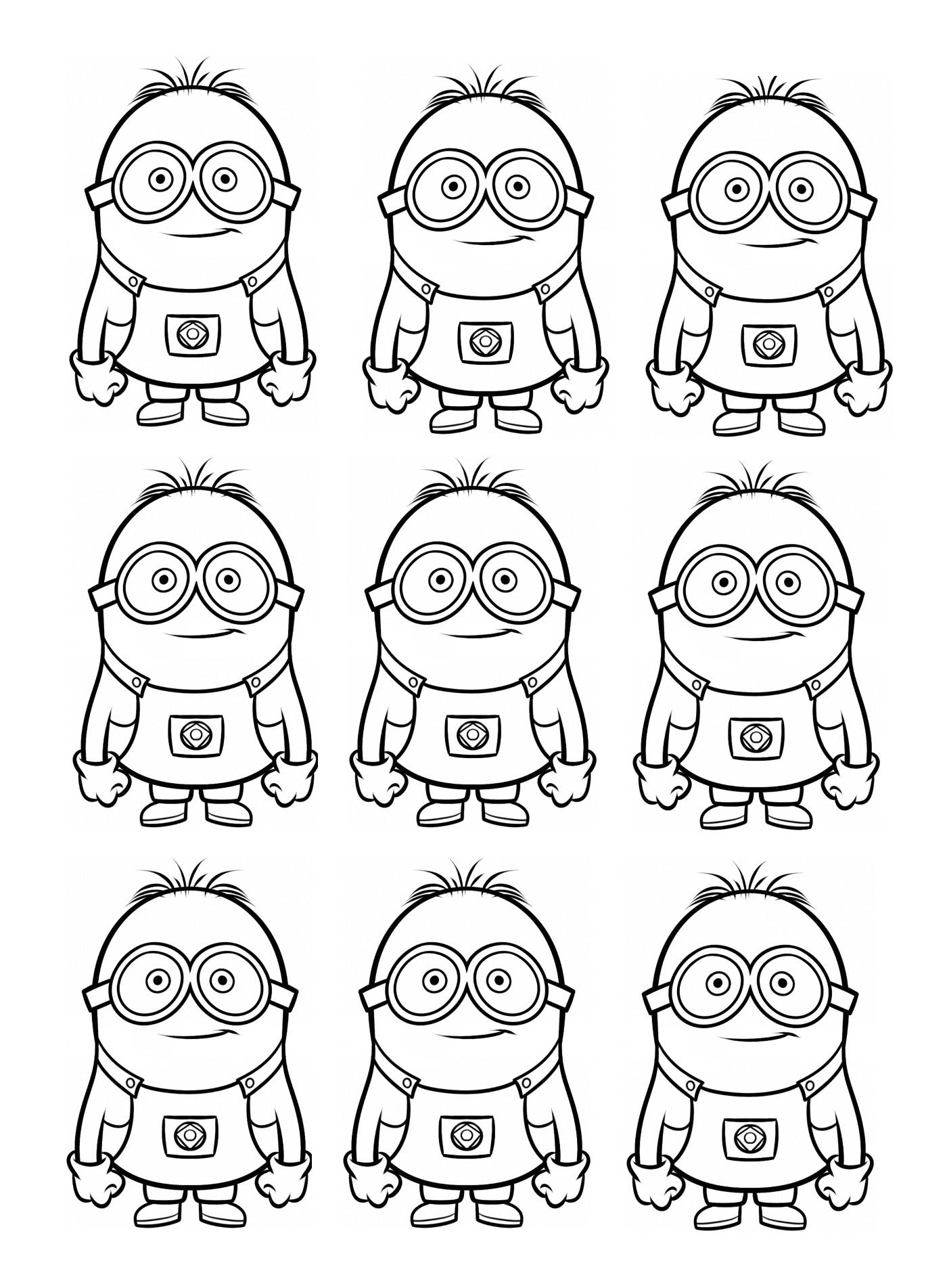 Minions To Download Minions Kids Coloring Pages