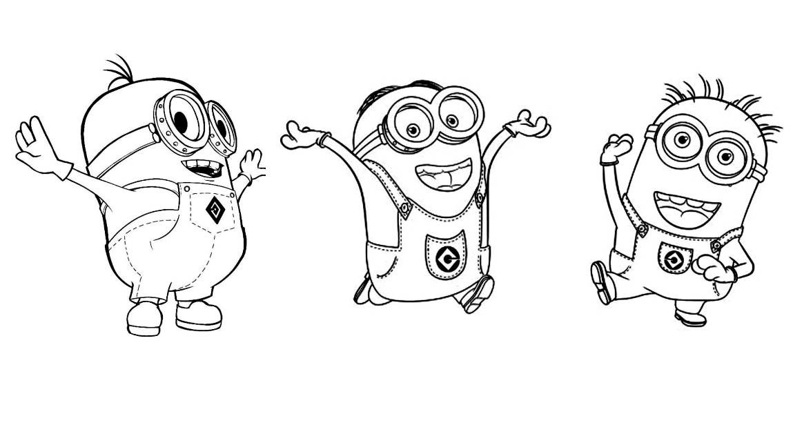 Minions To Color For Kids Minions Kids Coloring Pages