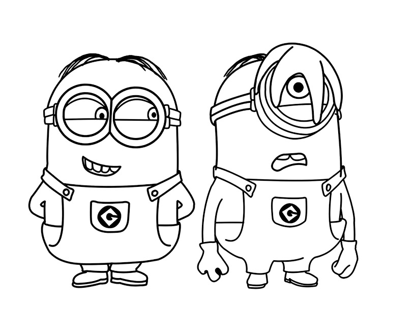 Minions To Print Minions Kids Coloring Pages