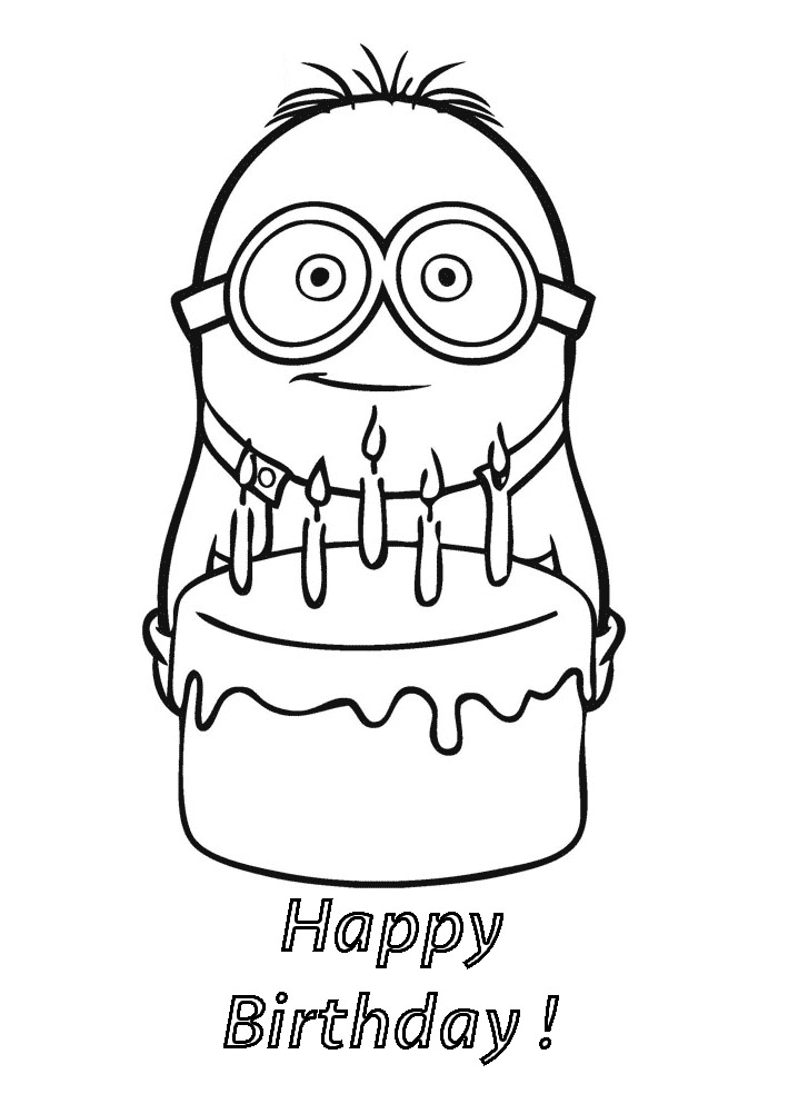 Minions To Print For Free - Minions Kids Coloring Pages