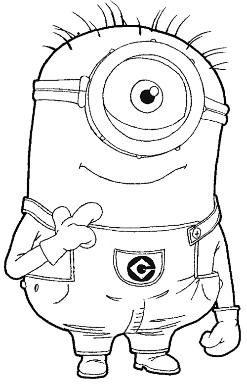 - Minions For Children - Minions Kids Coloring Pages