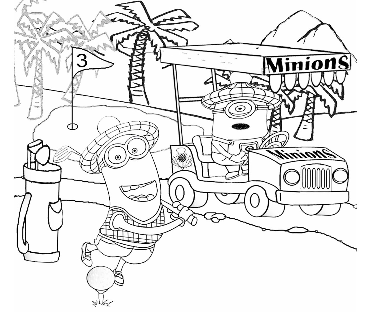 Free Minions Coloring Page To Download