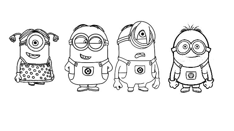 Simple Minions Coloring Page