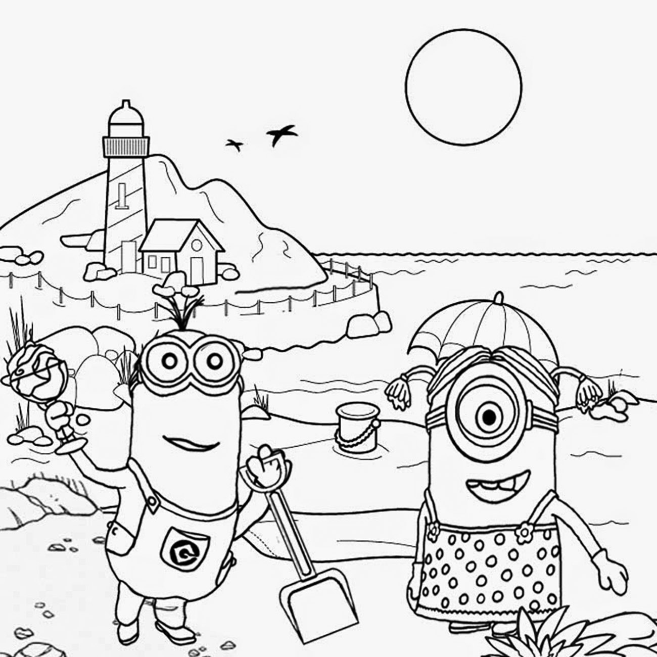 Minions to download for free - Minions Kids Coloring Pages