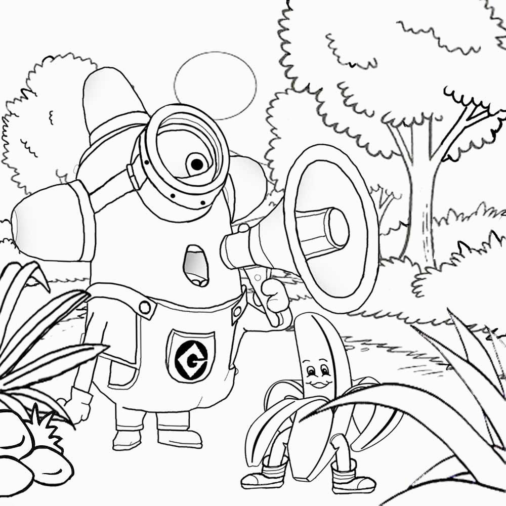 Simple Minions coloring page to download for free
