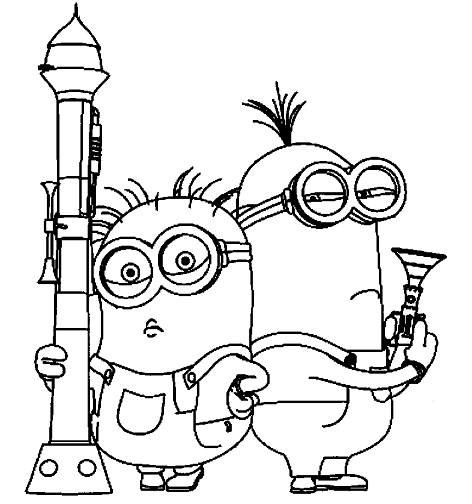 Minions to color for kids - Minions Kids Coloring Pages