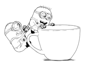 Coloring page minions to color for kids