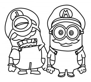 Coloring page minions to print