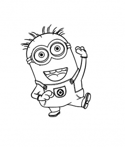 Funny Minions Coloring Page For Children