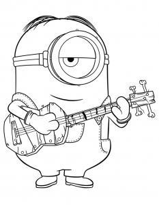 Coloring page minions for kids