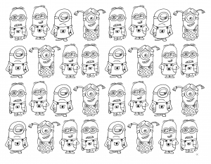 Coloring page minions to download