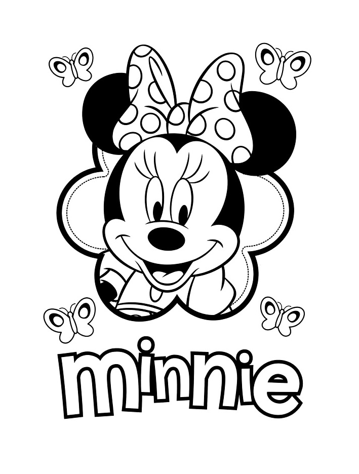 Funny Minnie coloring page
