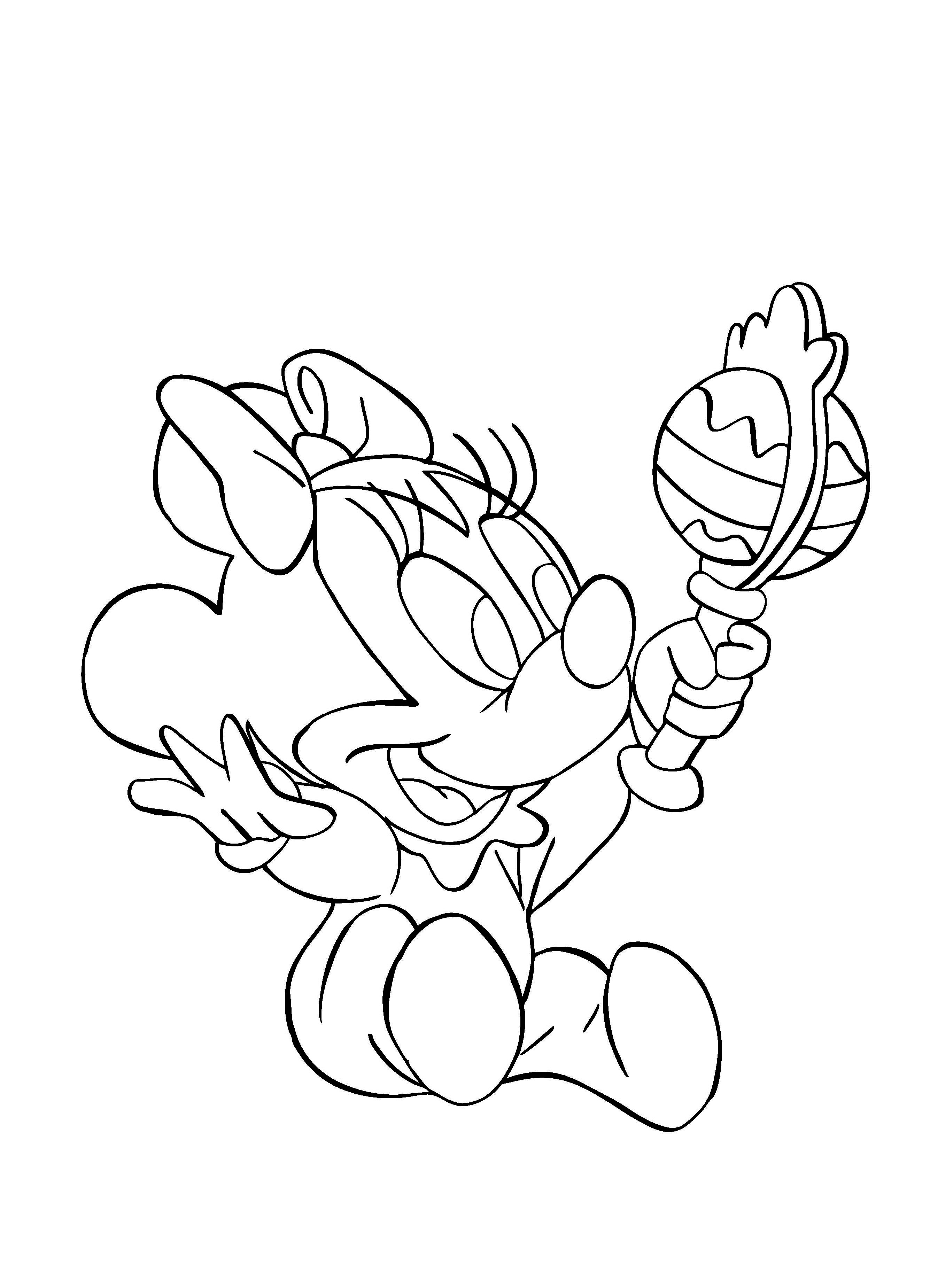 Funny Minnie coloring page for children