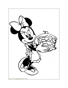 Coloring page minnie for children