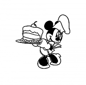 Coloring page minnie free to color for kids
