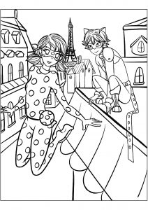 Coloring page miraculous lady bug free to color for children