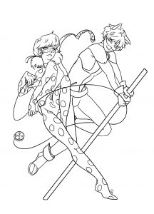 Coloring page miraculous lady bug to download
