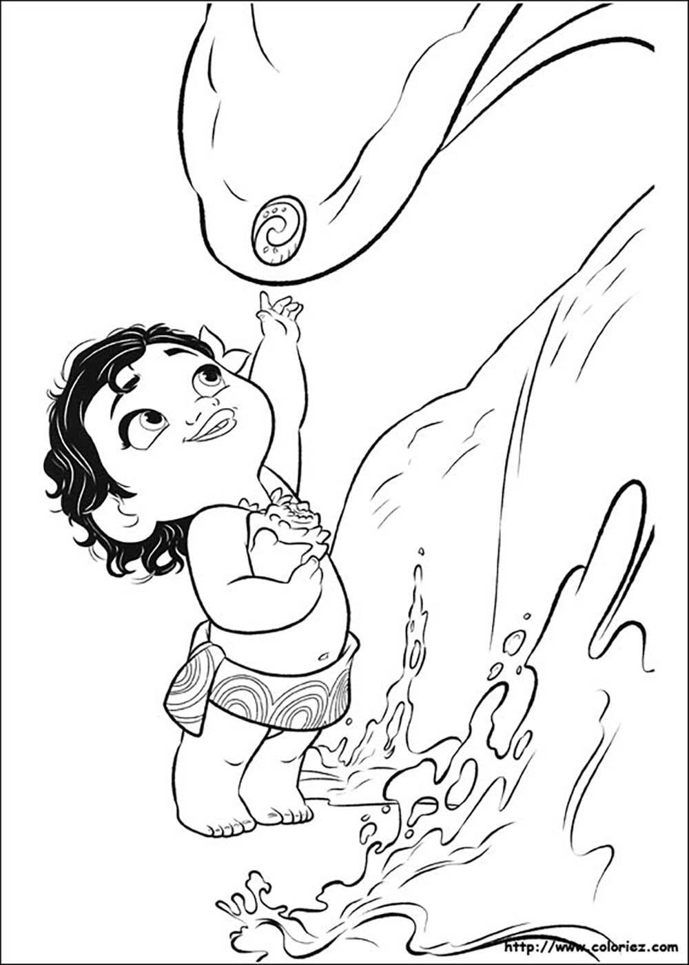 Moana Coloring Page To Print And Color Little Moana