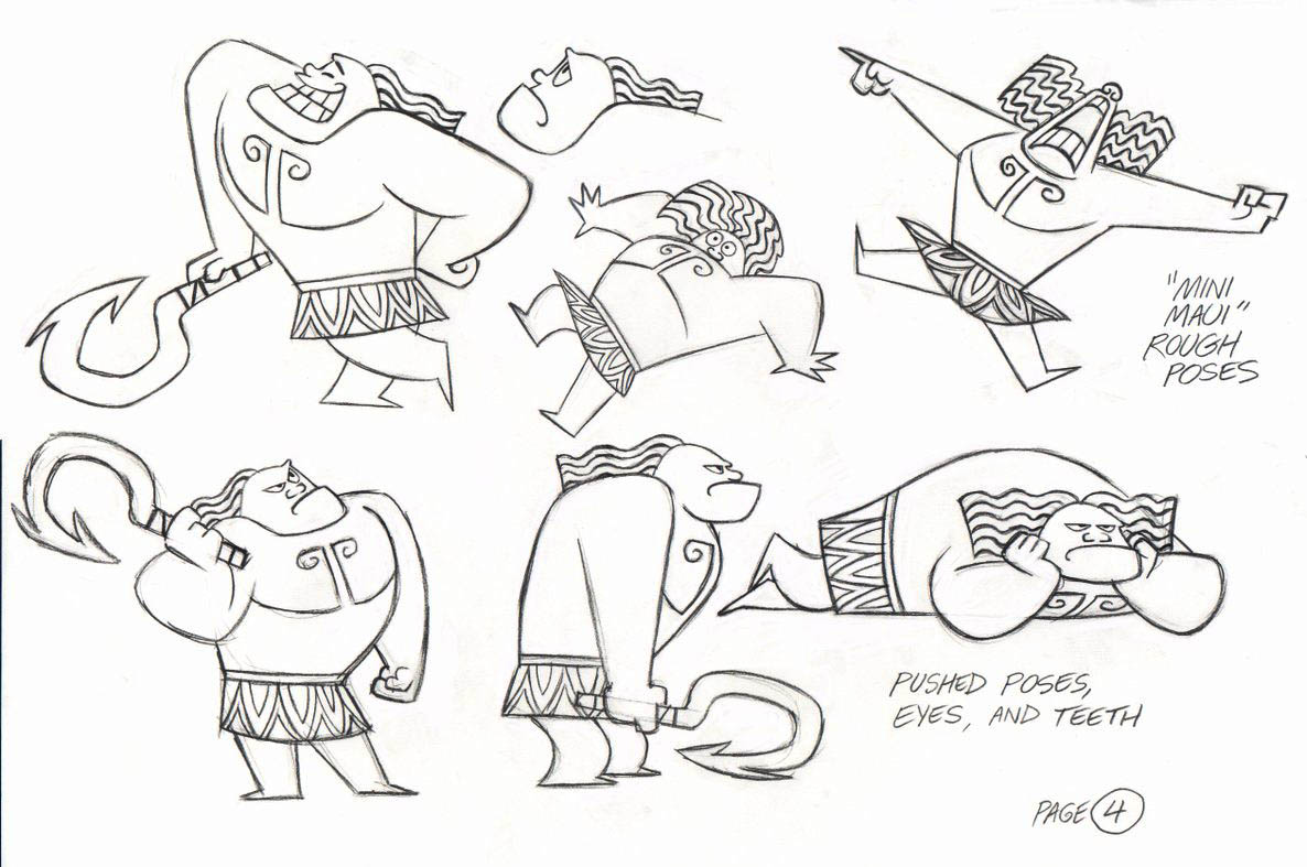 Beautiful Moana coloring page : drawings of Chief Tui