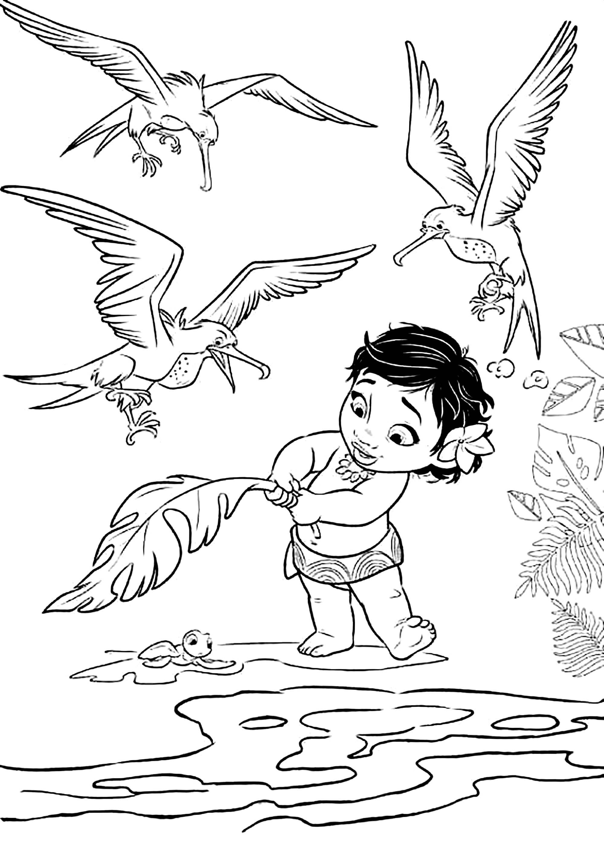 Moana for children - Moana Kids Coloring Pages