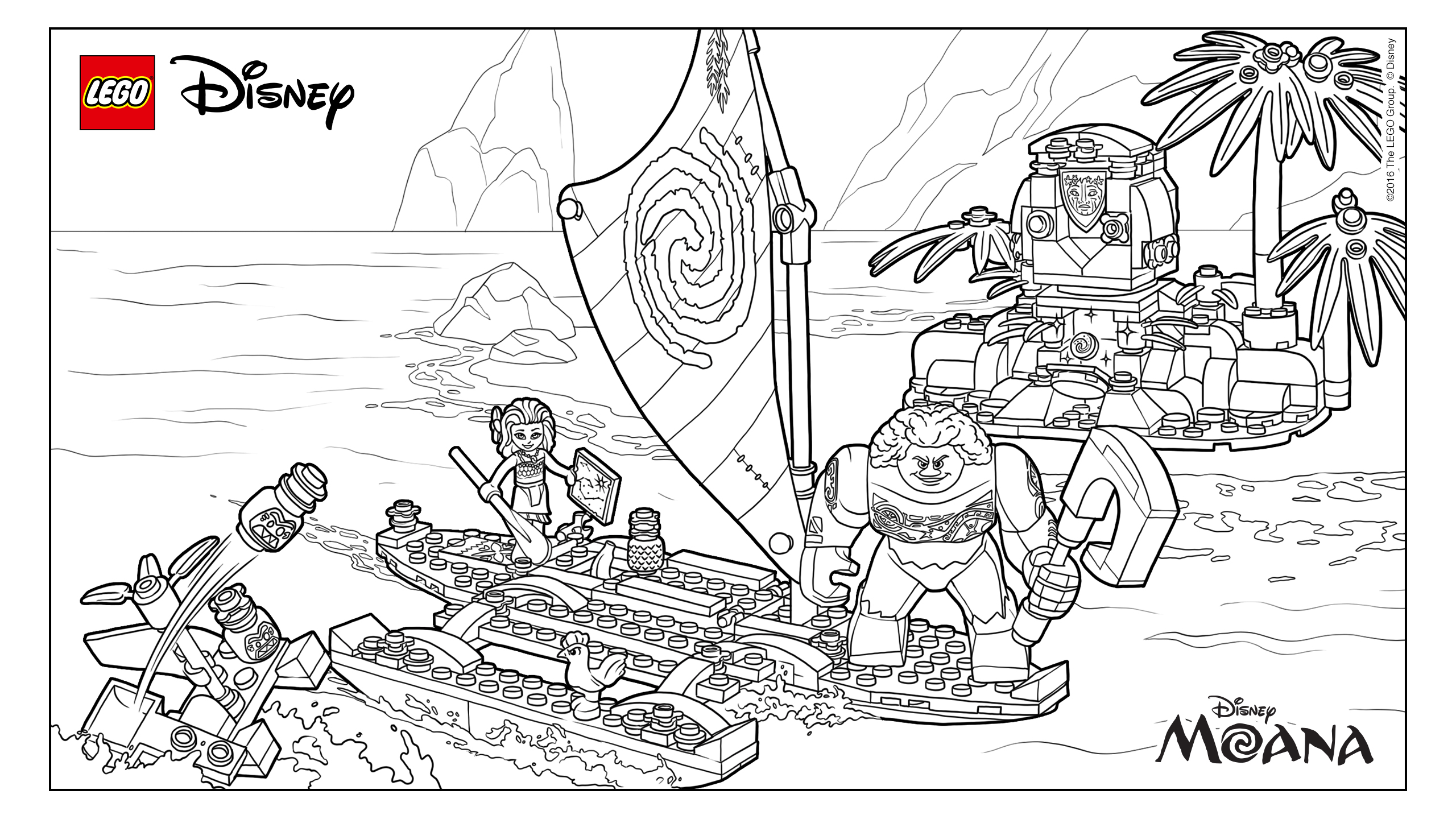 Simple Moana Coloring Page
