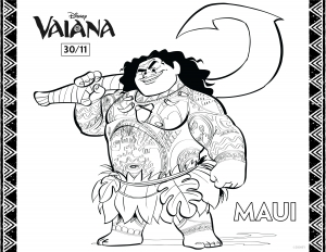 Coloring page moana to print for free