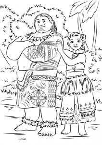 Coloring page moana to print