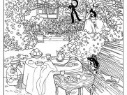 Claude Monet Coloring Pages for Kids